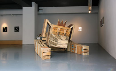 Alan Butler, 'Here They Come', (2012), Wooden Pallets, Occupy Dame Street Posters