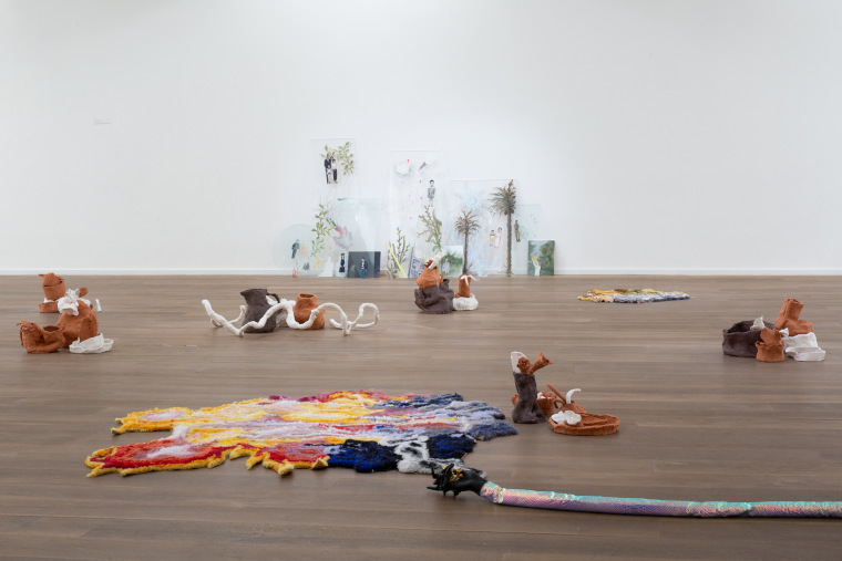 "Bassam Al-Sabah  Install Shot of ""Dissolving Beyond The Worm Moon"" at Solstice Arts Centre, Navan, 2019 Photographs by Paul Gaffney"