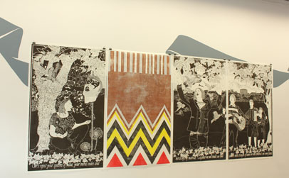 Ryan McClelland, 'A New Morning', Relief Print on Japanese Paper, Four Panels each 90 x 165cm, (2012)