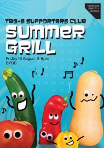 Summer Grill Poster Black