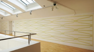 'W.53rd St', Talbot Rice Gallery, gloss and emulsion paint, 8ft x 42ft, 2013