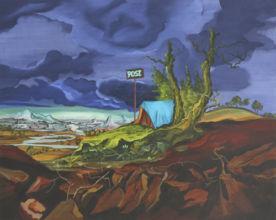 Post, 2013, Oil on Gesso Panel, 40 x 50cm