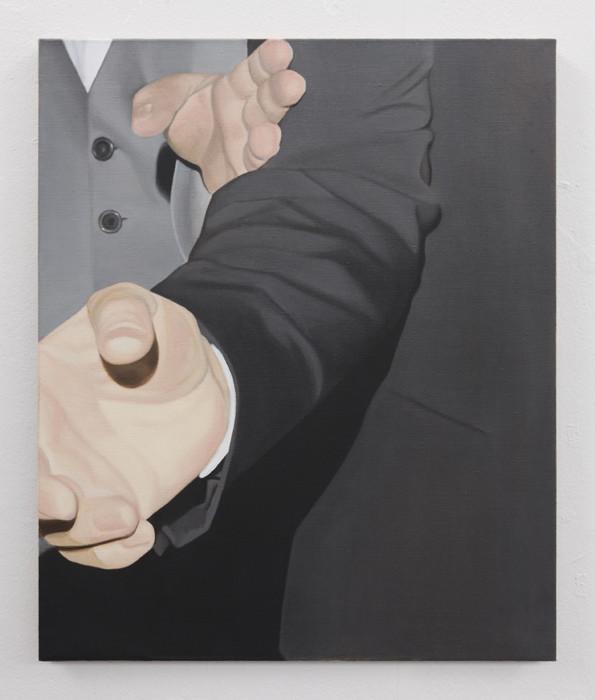 Marcel Vidal  Fingers, 2019, Oil on linen, 60 x 50 cm. Courtesy the Artist. Photo Lee Welch