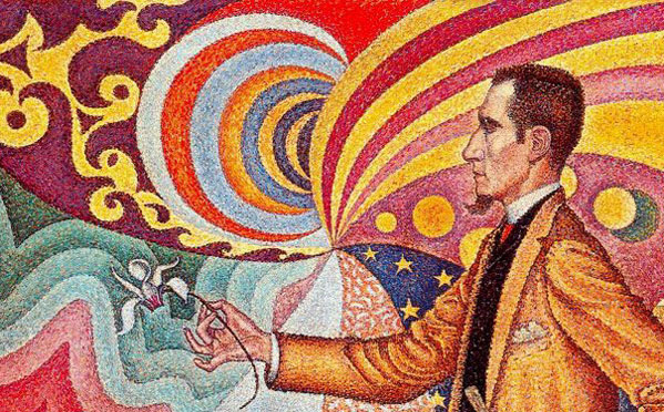 Paint and Pointillism workshop for kids  Image credit: Signac, Paul (1863-1935): Opus 217. Against the Enamel of a Background Rhytmic with Beats and Angles, Tones and Tints, Portrait of M. Felix Feneon in 1890 (1890). New York, Museum of Mod