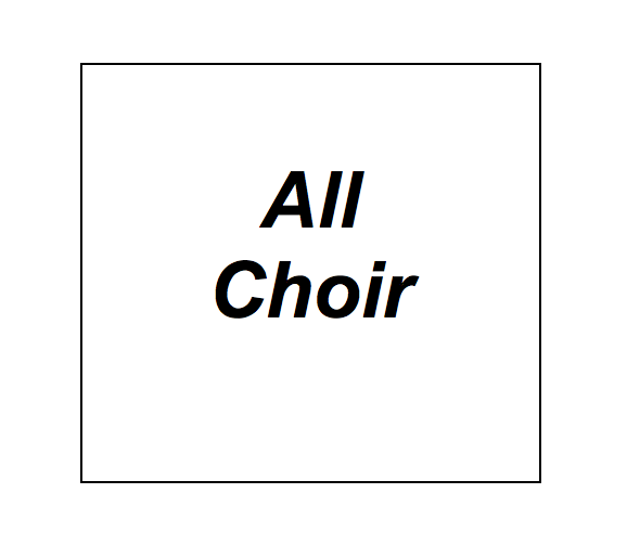 Studio 6 Open: ALL CHOIR