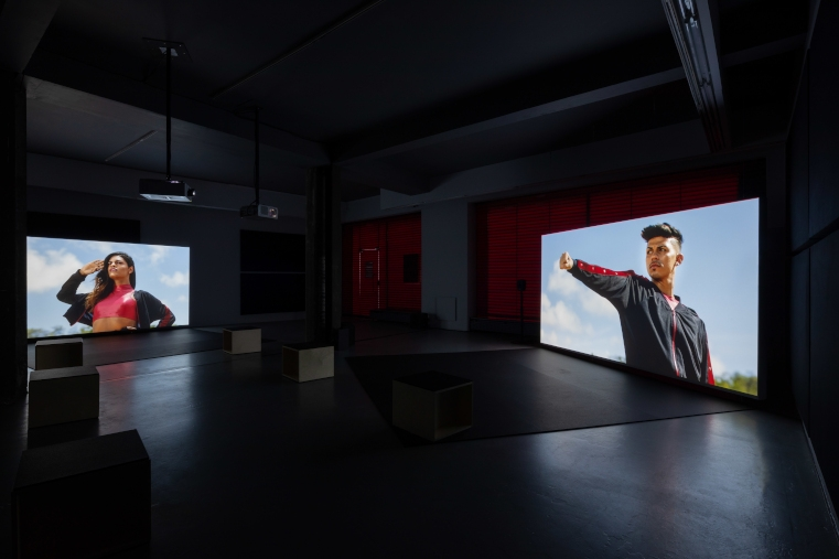 Hélio Menezes: Notes on the process of 'Swinguerra' and on other duels at the margins of the Brazilian Venice  Bárbara Wagner & Benjamin de Burca, Swinguerra, Temple Bar Gallery + Studios, Installation view, 2020. Photo: Bowe O'Brien Photography