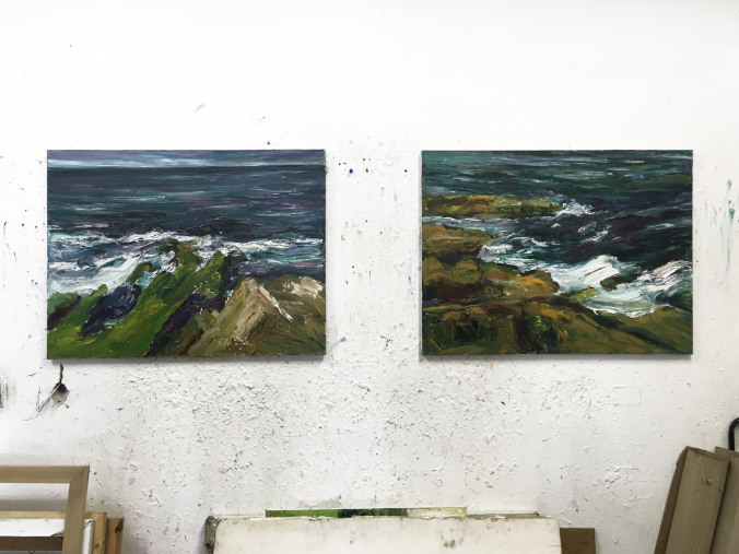 CANCELLED: Late View + Open Studio with Sean Fingleton  Painting by Sean Fingleton in his studio at Temple Bar Gallery + Studios