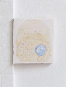 Annaliisa Krage, Paulas Garten, 2019, Pencil, tempera and oil on plaster, 22 x 20 cm. Courtesy the artist.