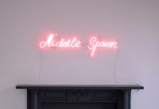 Eimear Walshe, Middle Spoon (2018) neon light. Photo by Donal Talbot