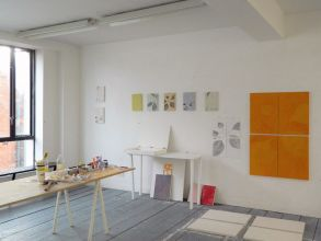 Eve O Callaghan, TBG+S Recent Graduate Residency, studio view, 2020