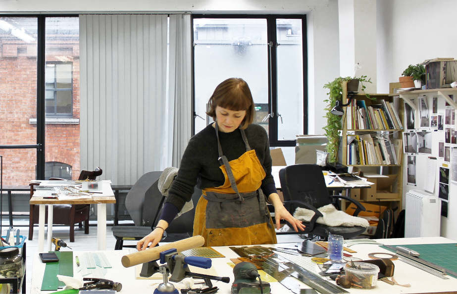 Open Call: Three Year Membership Studios + International Studio & Curatorial Program Residency, New York  Niamh O'Malley in her studio at Temple Bar Gallery + Studios