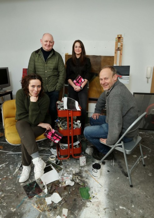 Councillor Rebecca Moynihan launches Temple Bar Gallery + Studios 2018 Artistic Programme  Artists Alice Rekab, Stephen Loughman, Lucy McKenna and Gerard Byrne at Temple Bar Gallery + Studios.