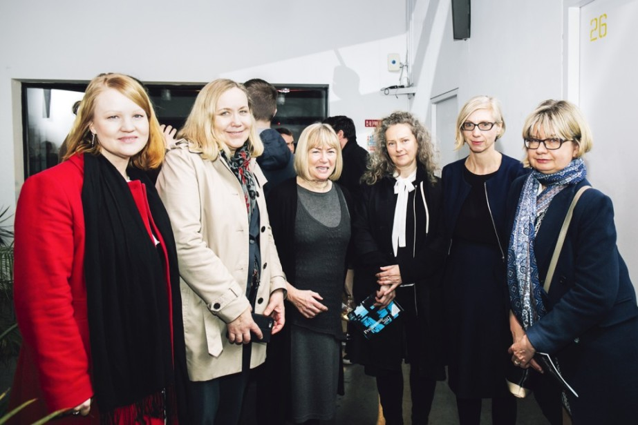 Sheila Pratschke, Chair of Arts Council, launches TBG+S 2017 Artistic Programme (Download)  (L-R) Lenita Taylor, Executive Secretary, Embassy of Finland; Else Berit Eikeland, Ambassador, Royal Norwegian Embassy; Sheila Pratschke, Chair, Arts Council of Ireland; Valerie Connor, Curator; Clíod